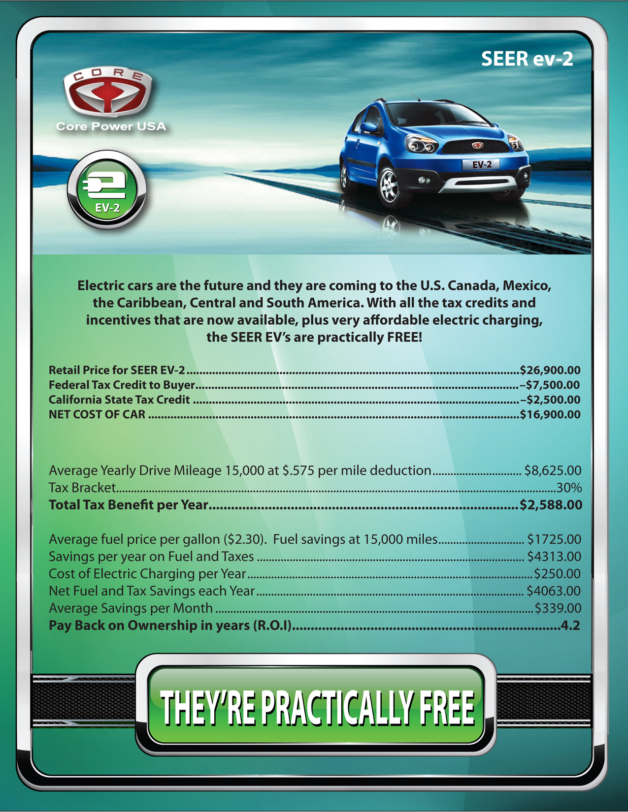 Core Power USA EV-2 Incentives